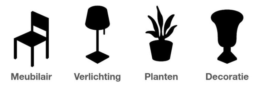 meubels verlichting planten decoratie De vlotten